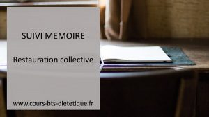 Mémoire restauration collective