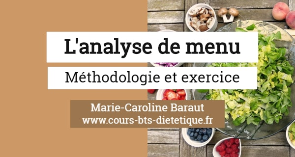 Nutrition Analyse de menu