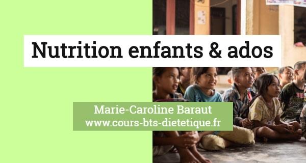 Nutrition enfants et adolescents