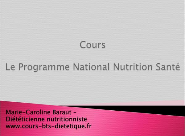 Nutrition II-06 - PNNS