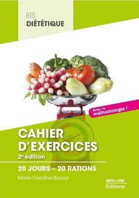 Cours BTS diététique Cahier exercices 20 jours 20 rations