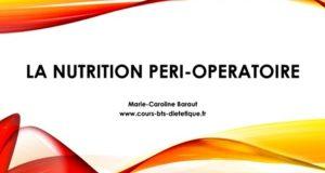 Nutrition peri-operatoire