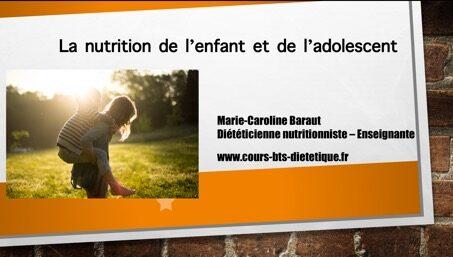 La nutrition de l'enfant et de l'adolescent