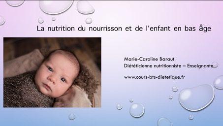 Nutrition du nourrisson