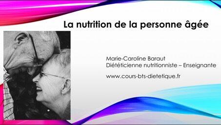 Nutrition personne âgée