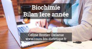 Biochimie Bilan 1ere annee