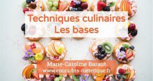 Techniques culinaires Bases
