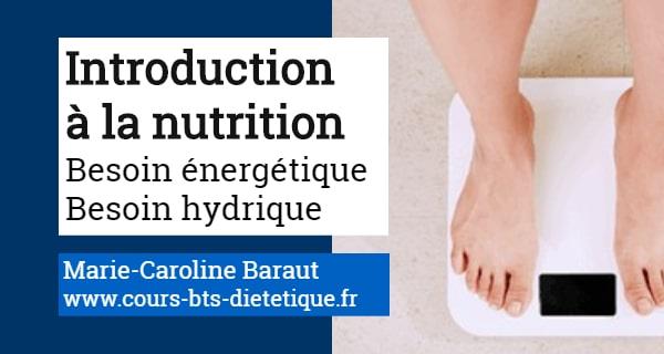 Introduction a la nutrition besoin énergétique besoin hydrique